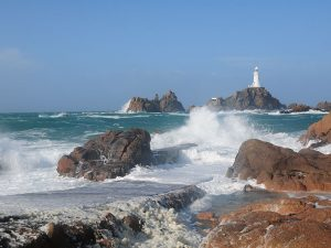 La Corbiere Lighthouse in Jersey, Channel Islands